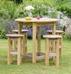 Zest4Leisure Bahama Large Round Table & 4 Stool Set