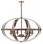 Dar Symbol 6 Light Pendant Petrol Copper