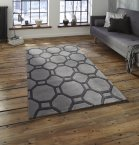 Think Rugs Hong Kong 4338 Grey - Various Sizes