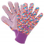 Briers Busy Floral Cotton Grip Gardening Gloves Small