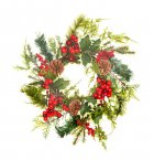 Sincere Floral Wreath 40cm - Berry/Cone/Holly/Pine