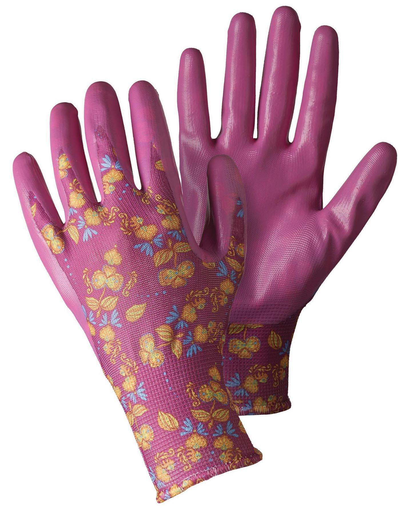 Briers Seed Weed Gardening Gloves Medium Magenta at