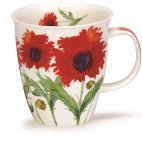 Dunoon Nevis Shape Fine Bone China Mug - Flora - Poppy