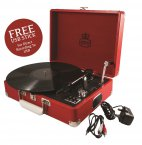 GPO Attaché Record Player Pillarbox Red