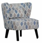XYZ Marle Occasional Chair in Retro Sky - Choice of Legs