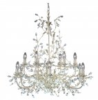Searchlight Almandite 12 Light Cream Gold Chandelier with Crystal Detail
