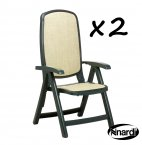 Nardi Delta Chair Green PACK of 2