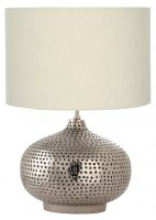 Pacific Lifestyle Casablanca Nickel Punched Meta Table Lamp