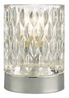 Dar Jill Touch Table Lamp Polished Chrome Glass