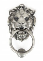Antique Pewter Lion Head Knocker