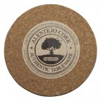 Apollo Cork Coaster Set of 6 Round 10cm