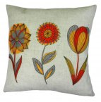 Evans Lichfield Norsk Cushion 43cm Floral Red Ochre