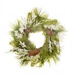 Sincere Floral Wreath 40cm - Frosted Pine Foliage