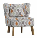 XYZ Marle Occasional Chair in Retro Tangerine - Choice of Legs