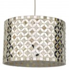 Dar Acquila Easy Fit Pendant Mirror & Cream