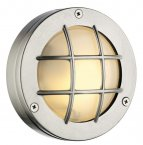 David Hunt Pembroke Round Wall Light Nickel IP44