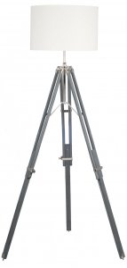 Pacific Lifestyle Grey Wood Tripod Floor Lamp