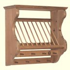 Somerset Pine Wall Plate Rack - Single Exmoor Small