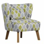 XYZ Marle Occasional Chair in Retro Lime - Choice of Legs