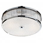 Dar Aramis 3 Light Glass Flush Ceiling Light