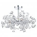 Dar Oberoi 6 Light Semi Flush Ceiling Light Polished Chrome