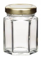 Home Made Hexagonal Jar with Twist-off Lid, 55ml