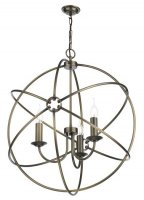 David Hunt Orb 3 Light Pendant Antique Brass