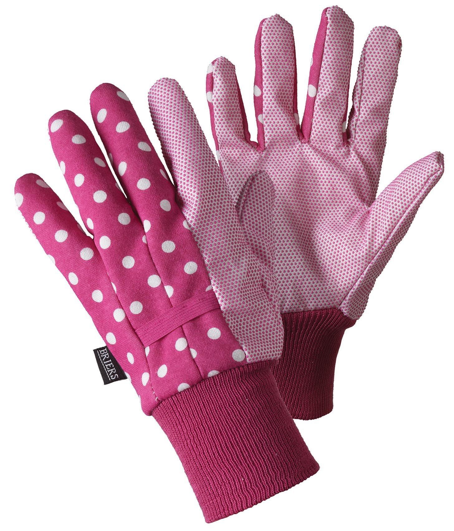 Briers Spots Water Repellent Gardening Gloves Medium at