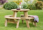 Zest4Leisure Katie Round Picnic Table
