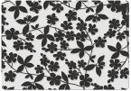 Creative Tops Opulence Luxury Glass Mats (Set of 4) Floral Shadow