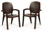 Nardi Creta Chairs (Set of 2) - Coffee