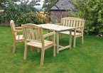 Zest4Leisure Caroline Table, Bench & Chair Set