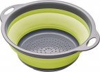 Colourworks Brights Collapsible Colander with Grey Handles Green