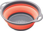 Colourworks Collapsible Colander with Grey Handles Red