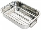 Kitchen Craft Stainless Steel Roasting Pan with Rack 27x20x5cm