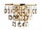 Dar Jester 2 Light French Gold Wall Bracket with Amber Droppers