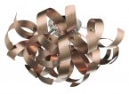 Dar Rawley 4 Light Ribbon Flush Satin Copper