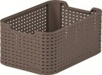 Curver Style Rattan Storage Box - Small - Brown