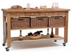 Hungerford Trolleys The Lambourn 4 Drawer Kitchen Trolley
