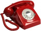 GPO 746 Rotary Telephone - Red