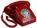 GPO 746 Push Button Phone - Red