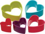 Colourworks Plastic Cookie/Pastry Cutter Set - Heart (Set of 5)