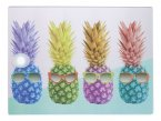 KitchenCraft Rectangular Toughened Worktop Protector Pineapple