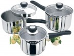 Judge Vista Draining Stainless Steel 3 Piece Pan Set