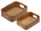 Artesà Natural Bamboo Rattan Serving Baskets (Set of 2)