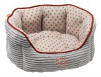 Little Petface Oval Puppy Bed Red / Grey