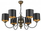 David Hunt Garbo 6 Light Bronze Pendant with Black/Bronze Shades