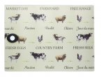 KitchenCraft Rectangular Toughened Worktop Protector Farmyard