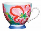 KitchenCraft Fine Bone China Footed Mug 400ml - Large Floral