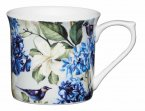 KitchenCraft Fluted Fine Bone China Mug 300ml - Blue Bird